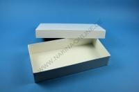 Große Geschenkbox weiß - glänzend - 13,6 x 26,8 x 5 cm