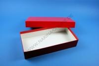 Große Geschenkbox rot - glänzend - 13,6 x 26,8 x 5 cm