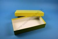 Große Geschenkbox gelb - glänzend - 13,6 x 26,8 x 5 cm