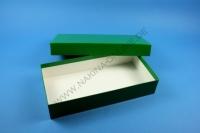 Große Geschenkbox grün - hochglanz - 13,6 x 26,8 x 5 cm