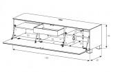 Sonorous TV-Moebel ST160-SLV-BLK-AL