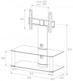 Sonorous TV-Furniture Saragossa NEO95-C-HBLK
