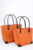 Korbtasche Orange als Set